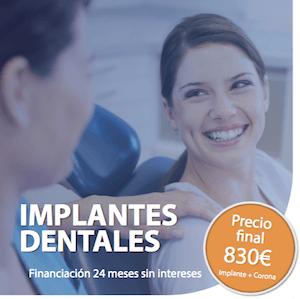 oferta precio implantes dentales