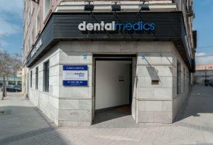 Fachada clinica dentalmedics Chamberí